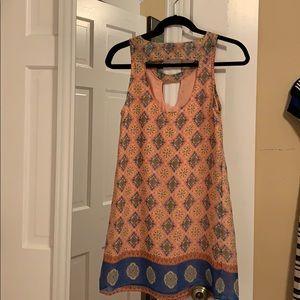 Lucy Love Open neck back scoop dress